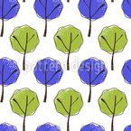 Laubbäumchen Musterdesign