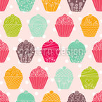 NY Cupcakes Seamless Vector Pattern Design
