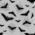 Bats In The Web Seamless Vector Pattern Design