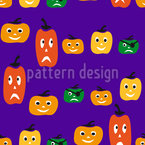 Halloween Kürbisköpfe Nahtloses Muster