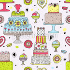 Julias Cake Manufactory Seamless Vector Pattern Design