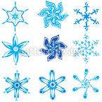 Snowflake Collection Pattern Design