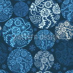 Winterly Christmas Patchwork Pattern Design