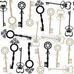 Schlüssel Zu Meinem Herzen Nahtloses Vektormuster