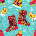 Winter Fun Seamless Vector Pattern Design