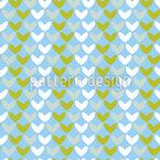 Herzen Im Frühling Muster Design
