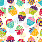 Muffins For Sweet M Seamless Pattern