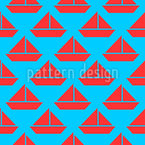 Set Sail Seamless Vector Pattern Design