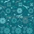 Enchanting Christmas Seamless Vector Pattern Design