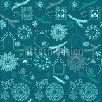 Zauberhaftes Weihnachten Nahtloses Vektormuster
