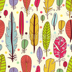 The Art Of The Feather Seamless Vector Pattern Design