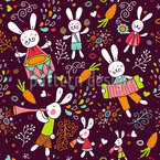 The Bunny Band Estampado Vectorial Sin Costura