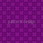 Cross Flowers Seamless Vector Pattern