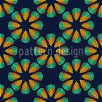 Metall Blumen Nahtloses Vektor Muster