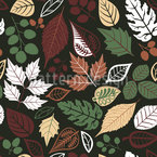 Leaves In The Dark Seamless Pattern