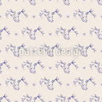 Deer And Hearts Seamless Vector Pattern Design