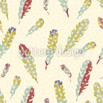 It Is Snowing Feathers Pattern Design