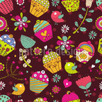 Cupcake Fantasies Repeating Pattern