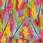 Die Federn Der Paradiesvögel Muster Design