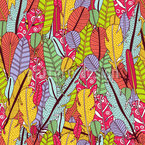 The Feathers Of The Paradise Birds Pattern Design