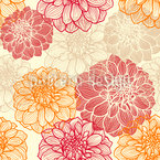 My Most Beautiful Dahlias Seamless Vector Pattern Design