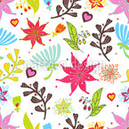 We Love Flowers Pattern Design