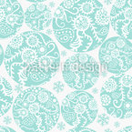 Filigree Winter Circles Seamless Vector Pattern Design