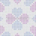 Gestickter Glücksklee Muster Design