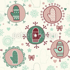 Super Soft Mittens Vector Ornament