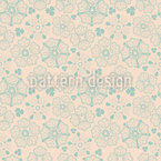 Floral Winter Luck Seamless Vector Pattern Design