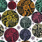 Círculos de Arte Pop Filigran Design de padrão vetorial sem costura