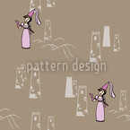 The Maiden Kunigunde Seamless Pattern