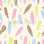 Magic Feathers Seamless Vector Pattern Design