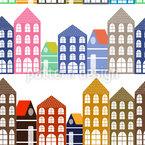 Die Häuser Von Amsterdam Nahtloses Vektormuster