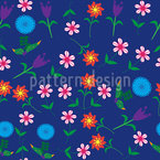 Let The Flowers Talk Seamless Vector Pattern