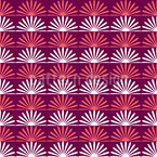 Floral Sunrise On Stripes Repeat Pattern
