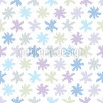 Little Snow Stars Vector Pattern