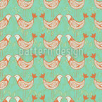 Turtle Doves Seamless Vector Pattern Design