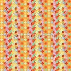 Flower Stripes Design Pattern