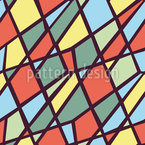 Geometria do Palhaço Design de padrão vetorial sem costura