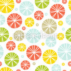 Lemon Circle Cocktail Vector Pattern