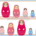 Baboushka Dolls Seamless Vector Pattern Design