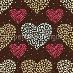 Heart Bouquets Seamless Vector Pattern Design