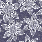 Magic Stars In The Winter Forest Repeat Pattern