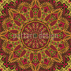 The Autumnal Sari Of The Maharani Seamless Vector Pattern Design