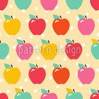 Äpfelchen Auf Polkadot Designmuster