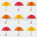 Les Parapluis Nahtloses Vektormuster