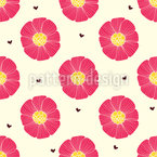 Chocolate Heart And Flower Seamless Vector Pattern Design