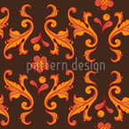 Baroquo Folk Seamless Vector Pattern Design