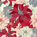 Longing For Dahlias Seamless Vector Pattern Design